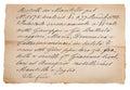 Old manuscript Royalty Free Stock Photo