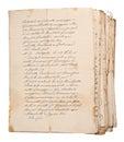 Old manuscripts Royalty Free Stock Photo