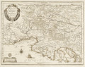 Old map of Adriatic sea Royalty Free Stock Photography