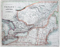 Old Map of America & Canada. Royalty Free Stock Photo