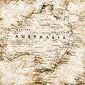 Old map of Australia Royalty Free Stock Photo