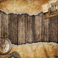 Old map background with compass adventure or discovery concept brass Royalty Free Stock Photo