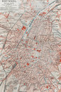Old map of Brussels Royalty Free Stock Photos