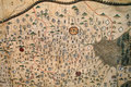 Old map the close up of chinese archaic Royalty Free Stock Photography