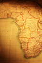 Old Map of East and South of Africa Royalty Free Stock Photo