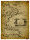 Old Map Of The Eastern Coast Of USA Royalty Free Stock Photo