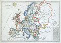 Old map of Europe, Stock Photos