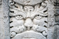 Old marble lion face sculpture of a of a Royalty Free Stock Photo