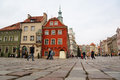 Old market of poznan december the with his historic city hall on december in poland this square is covering the area the Royalty Free Stock Photography