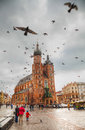 Old market square in Krakow, Poland Royalty Free Stock Photo