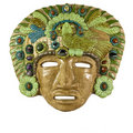 Old  mayan mask mould out of clay Stock Image