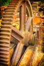 Old mechanical gears Royalty Free Stock Photo