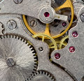 Old mechanical watch close up Stock Photo
