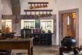 Old medieval castle kitchen with equipment