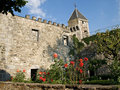 Old medieval castle yard Royalty Free Stock Photo