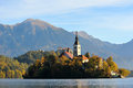 Old medieval church in Bled, Slovenia Royalty Free Stock Image