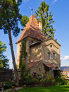 Old medieval defense tower sighisoara transylvania romania Stock Photography
