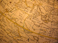 Old medieval globe map Royalty Free Stock Photo