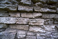 Old medieval limestone wall