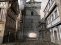 Old medieval street in an town Royalty Free Stock Image