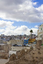 Old medina of tangier overlooking the Stock Photo