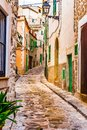 Old mediterranean village with rustic houses Royalty Free Stock Photo