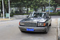 Old mercedes benz car in amoy city china Royalty Free Stock Photography
