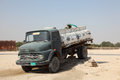 Old mercedes benz water truck in qatar middle east Royalty Free Stock Image