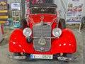 Old mercedes car benz c photo from international prague festival czech republic Stock Photos