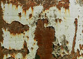 Old metal background texture of wall with white paint Stock Images
