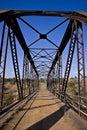 Old Metal Bridge - Portrait v01 Royalty Free Stock Image