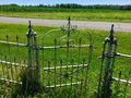 Old cemetery gate Royalty Free Stock Photo