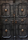 Old metal door detail in Salzburg Royalty Free Stock Photo