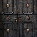 Old metal door detail in Salzburg Royalty Free Stock Photo