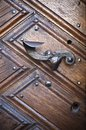 Old metal door handle close up Stock Photography