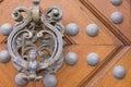 Old metal door knocker Royalty Free Stock Photo