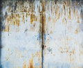 Old metal door with rust Royalty Free Stock Photo