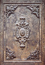 Old metal door texture with rust Royalty Free Stock Photo