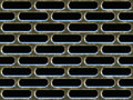 Old metal grill or vent Stock Image