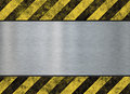 Old metal hazard background Royalty Free Stock Photo