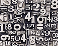 Old metal numbers Royalty Free Stock Photo