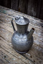 Old metal pitcher Royalty Free Stock Photo