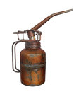 Old metal pump oil can isolated. Royalty Free Stock Image