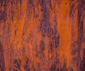 Old metal sheet covered with rust and damaged paint Royalty Free Stock Photography