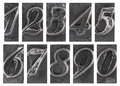 Old metal type numbers Stock Image