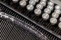 Old metal typewriter Royalty Free Stock Photo