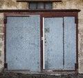 Old metal warehouse door Royalty Free Stock Photo
