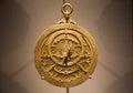 Old metallic Arabic astrolabe close up