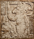 Old mexican relief carved in stone Royalty Free Stock Image