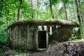 Old military bunker in national park podyji czech republic Stock Images